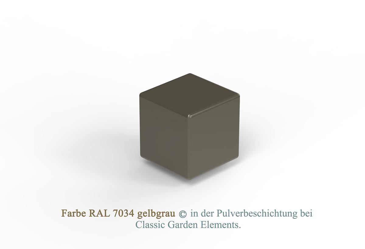 Farbe RAL 7034 gelbgrau in der Pulverbeschichtung bei Classic Garden Elements.