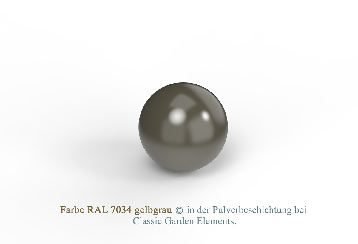 Farbe RAL 7034 gelbgrau in der Pulverbeschichtung bei Classic Garden Elements