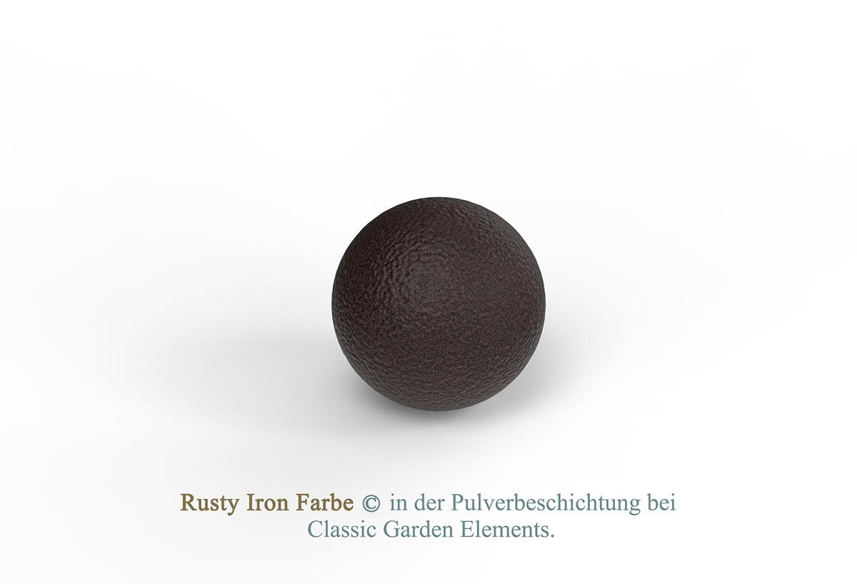 Rusty Iron Farbe in der Pulverbeschichtung bei Classic Garden Elements.