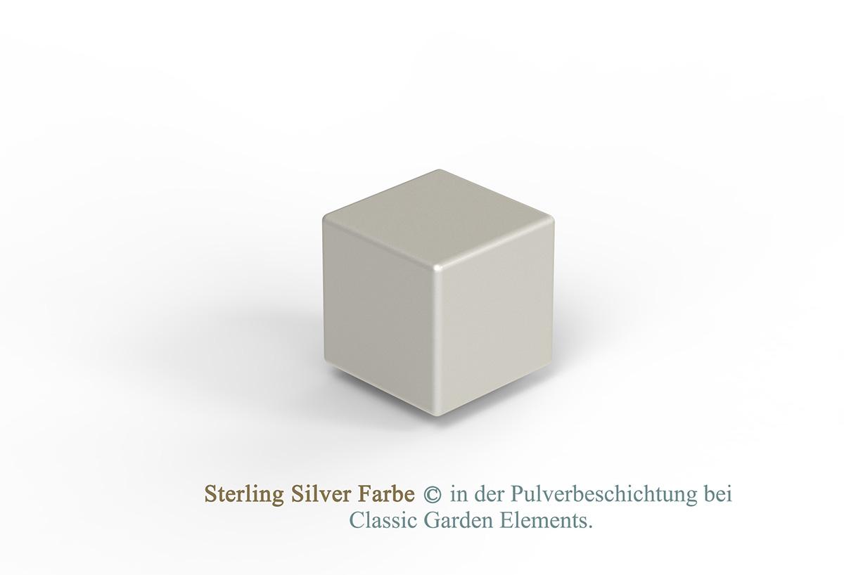 Sterling Silver Farbe in der Pulverbeschichtung bei Classic Garden Elements.