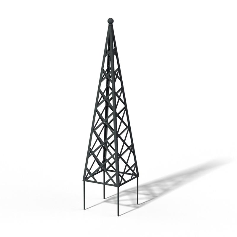 R23-PY-0 Pyramide Rankhilfe DB 703 Metallic