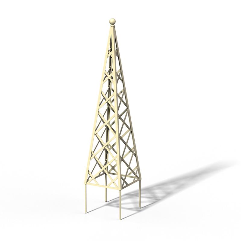 R23-PY-0 Pyramide Rankhilfe RAL 1015 Light Ivory