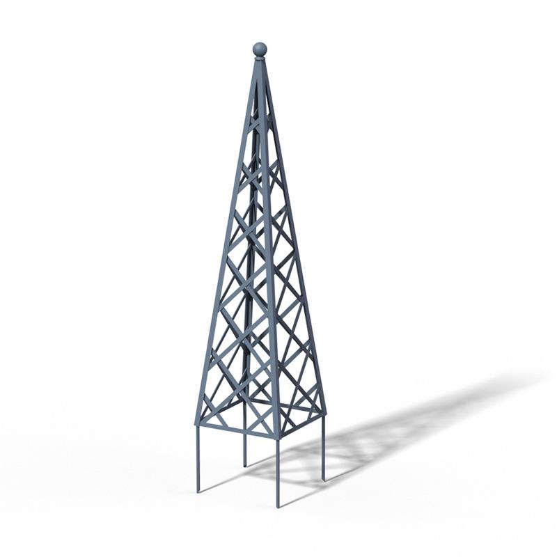 R23-PY-0 Pyramide Rankhilfe RAL 5014 Pigeon Blue
