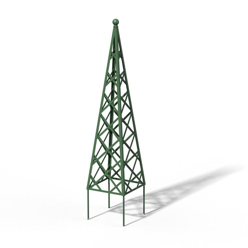 R23-PY-0 Pyramide Rankhilfe RAL 6000 Patina Green