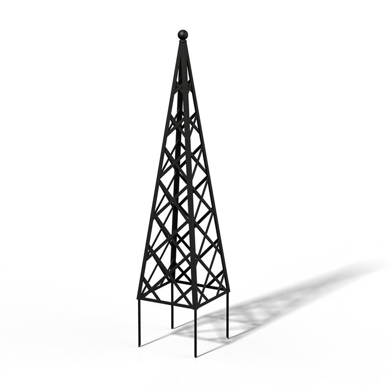 R23-PY-0 Pyramide Rankhilfe RAL 9005 Black Matt
