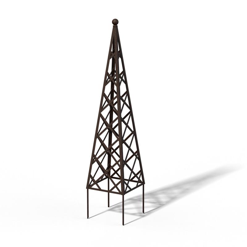 R23-PY-0 Pyramide Rankhilfe Rusty Iron