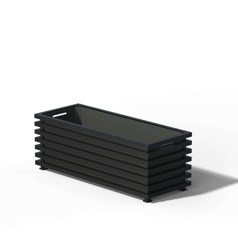E17 Langer Pflanzkübel RAL 9005 black