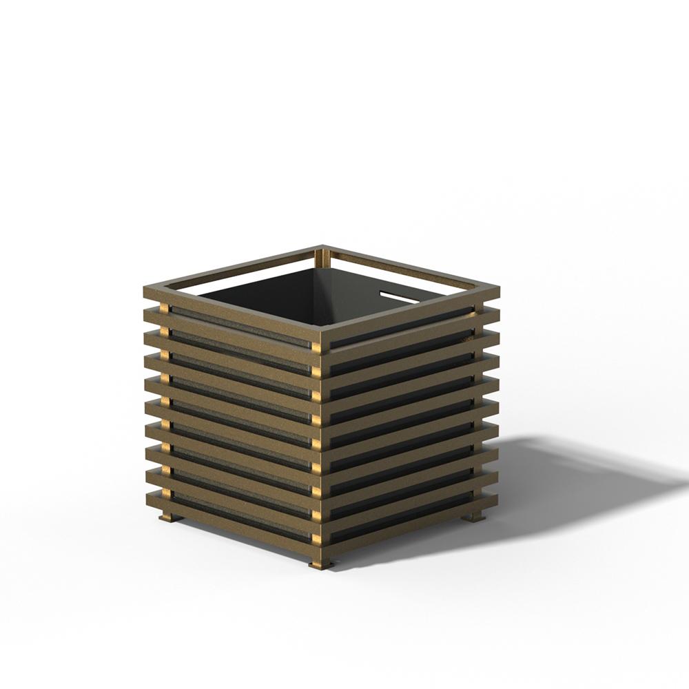 E23 IBIZA Großer Pflanzkübel Kendon Gold