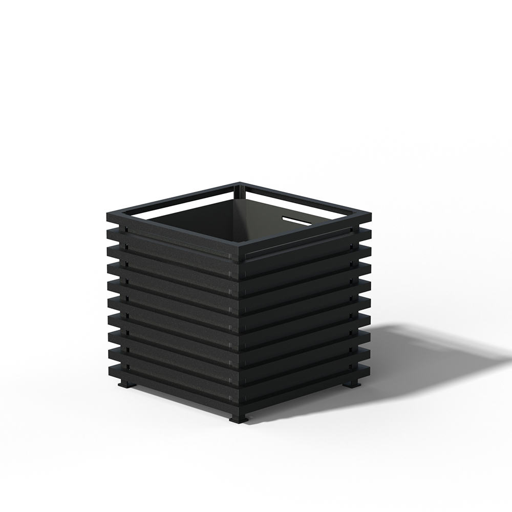 E23 IBIZA Großer Pflanzkübel RAL 9005 black
