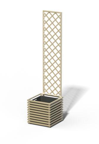 E23-Y-DHD IBIZA Großer Kübel mit Trellis Sterling Silver