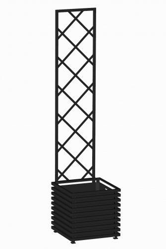 E23-Y-DLD-Großer IBIZA Pflanzkübel mit Spalier. RAL 9005 Schwarz