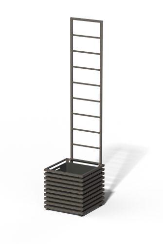 E23-Y-LLD IBIZA Großer Kübel mit Trellis Marrone 03 Metallic