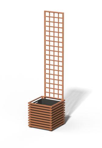 E23-Y-SHD IBIZA Großer Kübel mit Trellis Copper Light