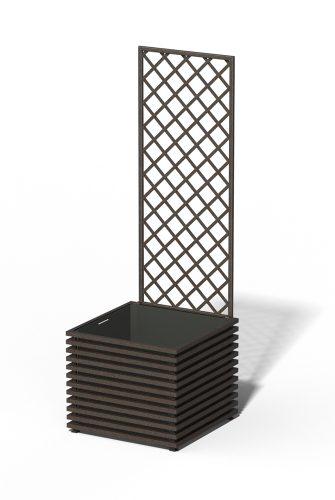 E24-Y-DHD IBIZA Park Pflanzkübel Rusty Iron