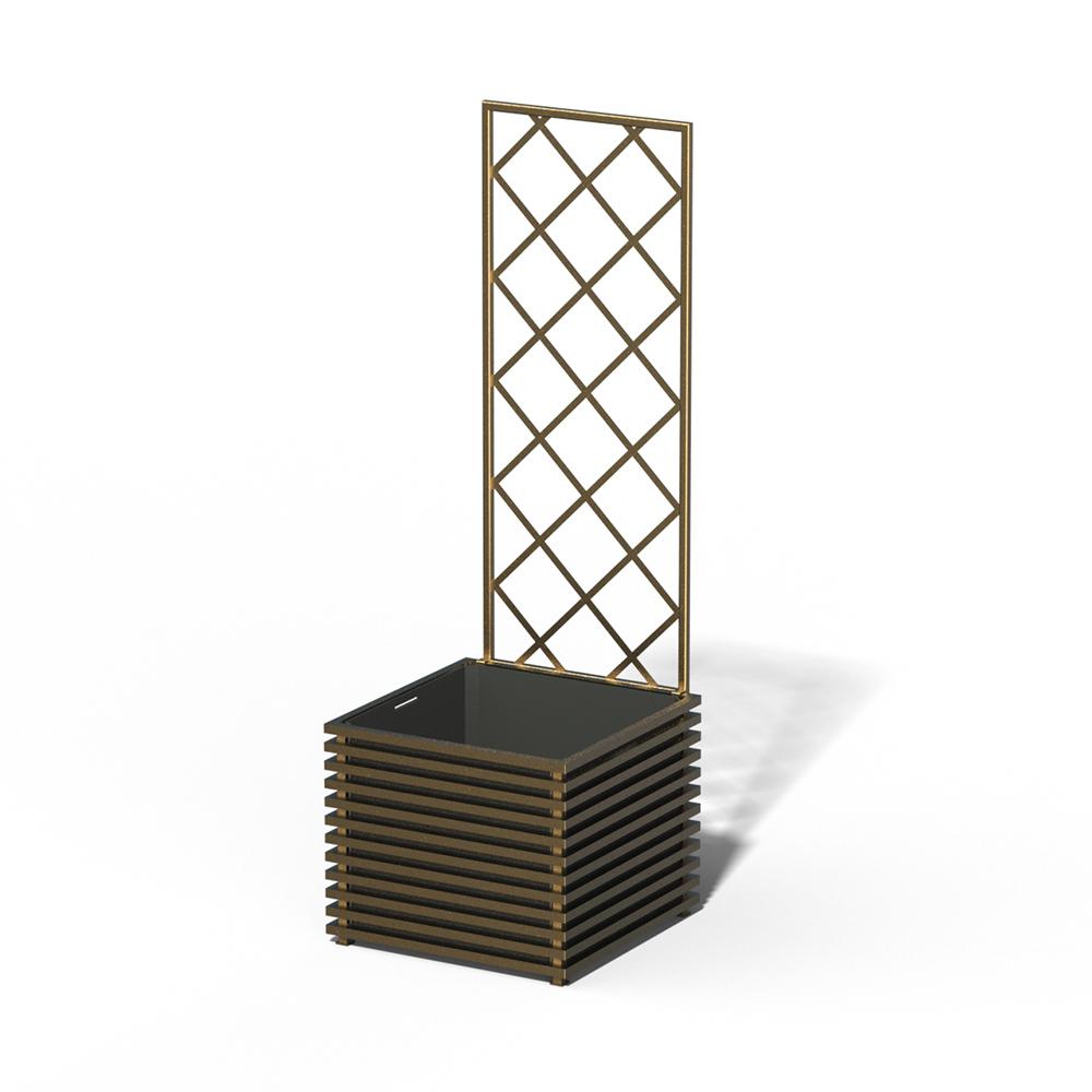 E24-Y-DLD IBIZA Park Pflanzkübel Kendon Gold