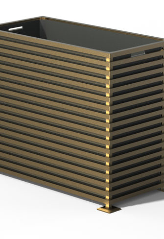E25 IBIZA Raumteiler Pflanzkübel Kendon Gold