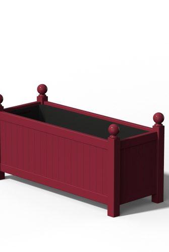 R17 Langer Versailler Pflanzkübel in RAL 3005 Wine Red