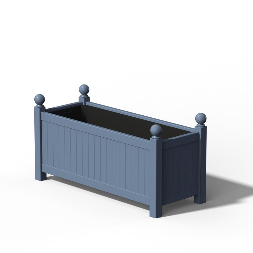 R17 Langer Versailler Pflanzkübel in RAL 5014 Pigeon Blue