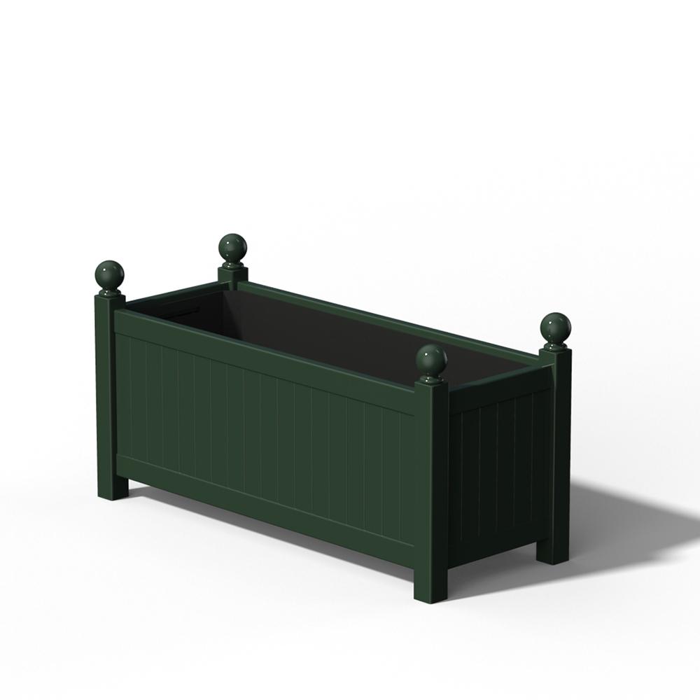 R17 Langer Versailler Pflanzkübel in RAL 6012 Black Green