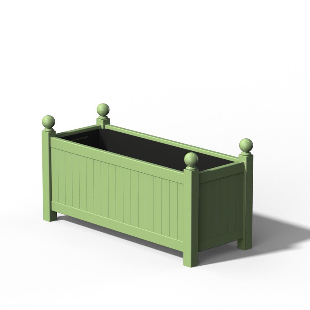 R17 Langer Versailler Pflanzkübel in RAL 6021 Pale Green