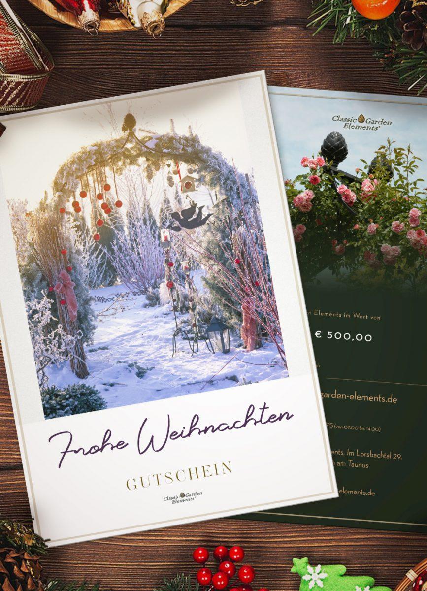 Weihnachtsgutscheine 2019 Classic Garden Elements