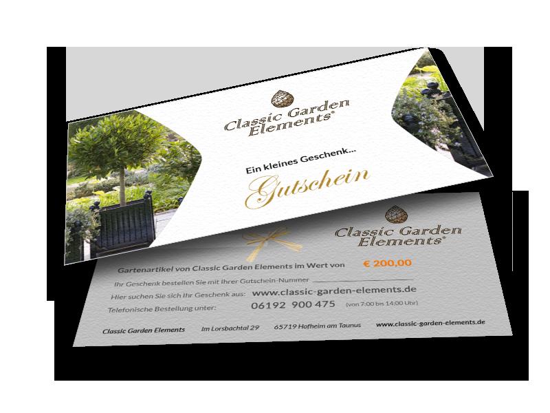 Geschenkgutschein von Classic Garden Elements