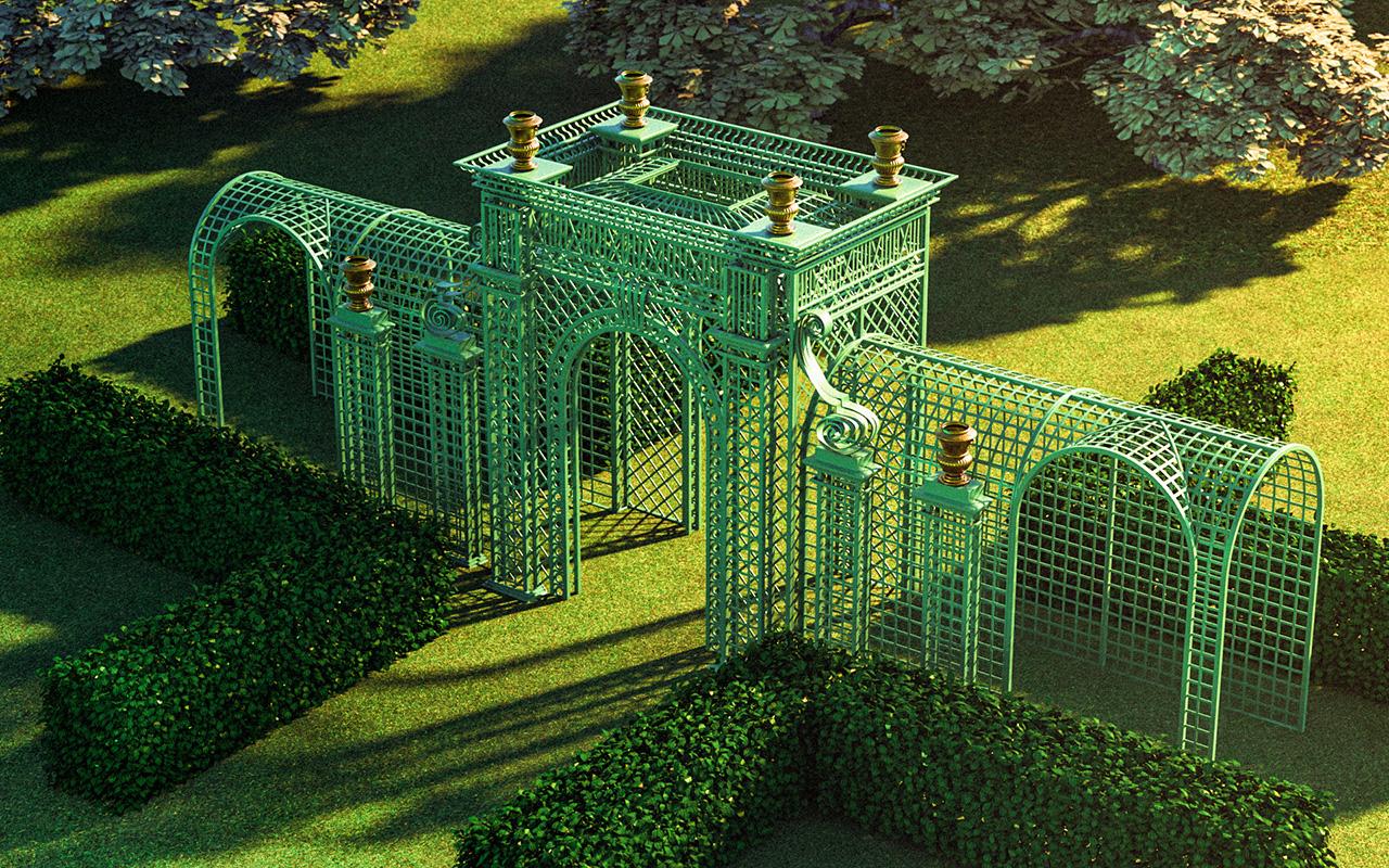 Versailles Treillage LOUIS IV Vogelperspektive